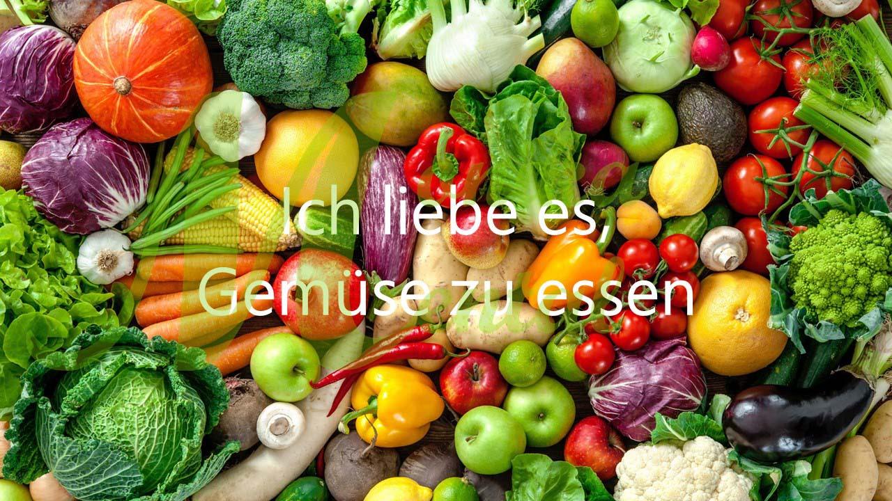 Ich liebe es. Gemüse zu essen